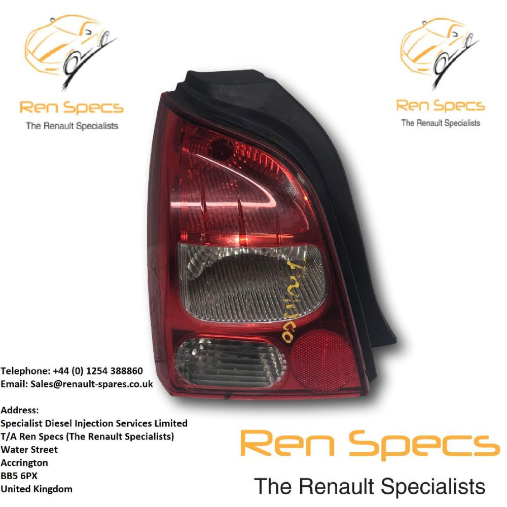 07-11 RENAULT TWINGO N/S PASSENGERS SIDE REAR LIGHT 8200387888